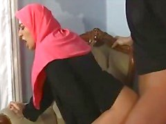 Árabe muçulmano HIJAB FODA Garota Turbanli 3 - NV