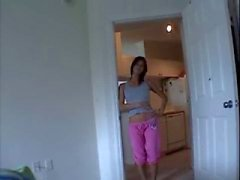 Brunette Teen Slampa Kitchen jävla ( POV )