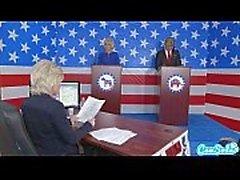 Donald Trumps och Hillary Clintons jävligt Bernie slipmaskin och Megan Kelly presi