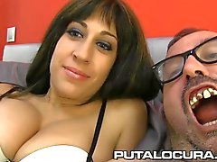 PUTA LOCURA Stunning French babe fucked by a fat guy