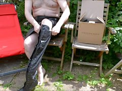 Bahçesi wanking - derinin ve in boots
