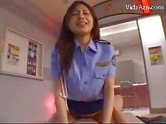 Police Woman ottenere la figa Scopate Equitazione Il Cima Della ragazzo At L'Ufficio del