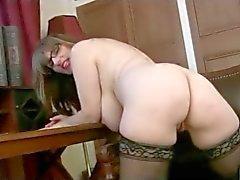 Enfermeira Milf em meias