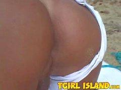 Blondie blows hard on the beach
