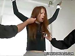 Japanse bondage video met hete tiener