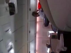 Daring & Horny Girl masturbates for real in an airplane! umyq
