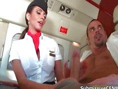 La chance avions passagers montent