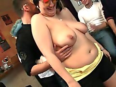 Hot bbw party with boozed girls