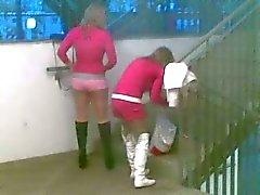 Opgestart pantyhosed Streethooker