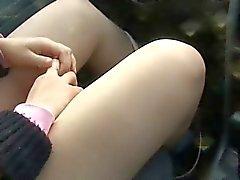Amadores Adolescente Masturbação em carro
