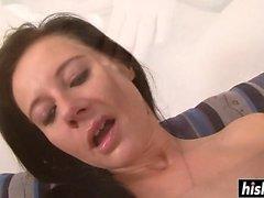 Amazing girl satisfies a delicious dick