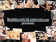 Ecolières baisers deviennent tôt en baise les lesbiennes inconditionnelle
