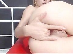 Skinny Blonde Teen Anal y Vaginal Toys DP