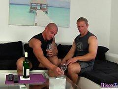 Bisexual guy gets cummed