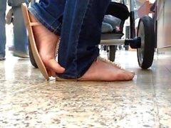 sandali del sincero con le calca e la faceshot