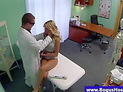 Blonde patient fucked by a doctors pole