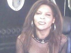 Brunette ebony shemale