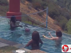 Candice Nicole Chayse Evans Tatiana Kush Pool party