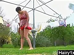 Kinky mauvaise de séduisants Poilues Chick de porno Hardcore