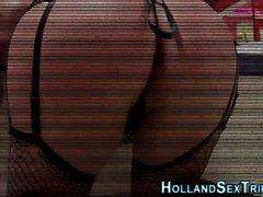 Hollandalı fahişe memeler serseri