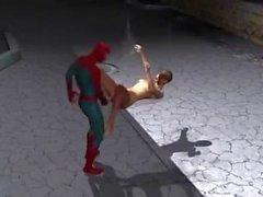 Spiderman fucks girl