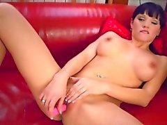 Busty Czech Has Wet Oozing Orgasm