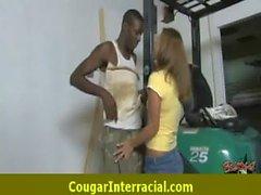 Hard interracial sex with a super hot cougar milf 8