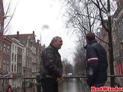 Cocksucking dutch prostitute cumsprayed