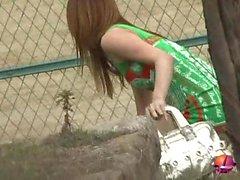 Los adolescentes asiáticos expuestos al aire libre Sexo Pública Japón 24
