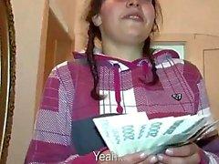 Czech slut Petty ass banged for money