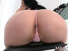 Inserting a toy into her anal canal fills babe with joy