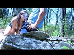 Amateur outdoor couple fucking on cam