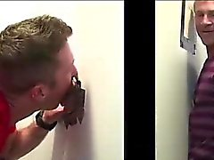 Gloryhole amateur does anal with gay guy on spycam