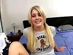 19 Jaar oude blonde student lacie krijgen fucked