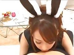Seksi Japon tavşan senin horoz seviyor
