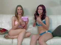 Emily assison and her arousing friend have hot interview