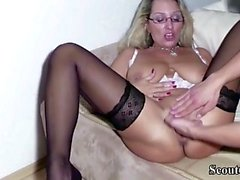 German Step-Son Get First Fuck by Mother and Cum Twice