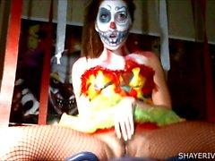 Shaye ríos de de Halloween Clown La masturbación