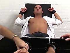 Javi gets strapped to tickle chair for the first time