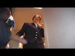 Stewardess-gives-Hot-Handjob-on-Airplane