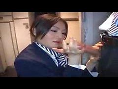 Lentoemännät - avulla - Hot - Handjob vs. lentokonetila