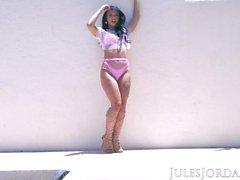 Jules Jordan - Gina Valentina's First Anal, Her Backdoor is Finally Open