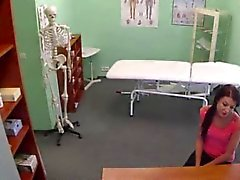 Patient tries the doctor and assistant too