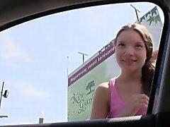 Haciendo autostop húngaro adolescencias joder el POV exteriores