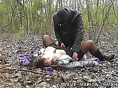Real sex slave bondaged, punished, gangbanged