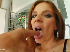 Messy facial end for Evelyn Foxy on Cum For Cover from a group of guys