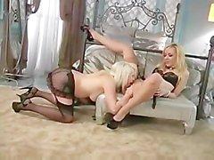 Annette Schwartz playing slave with Lorelei Lee