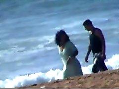 En couple Marocaine attiré putain de sur la plage
