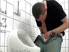 Accroché Thick du sexe branler de Public Toilet