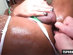 Hot shemale piss and creampie